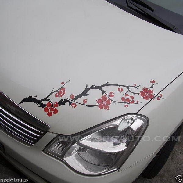 Car Decal Vinyl Graphics Sticker Hood Headlight Decal Flower Ume - Best automobile graphics and patternsbest stickers on the car hood images on pinterest cars hoods