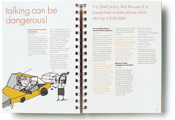 Shell Employee Handbook By Garrett Reil Via Behance  Design