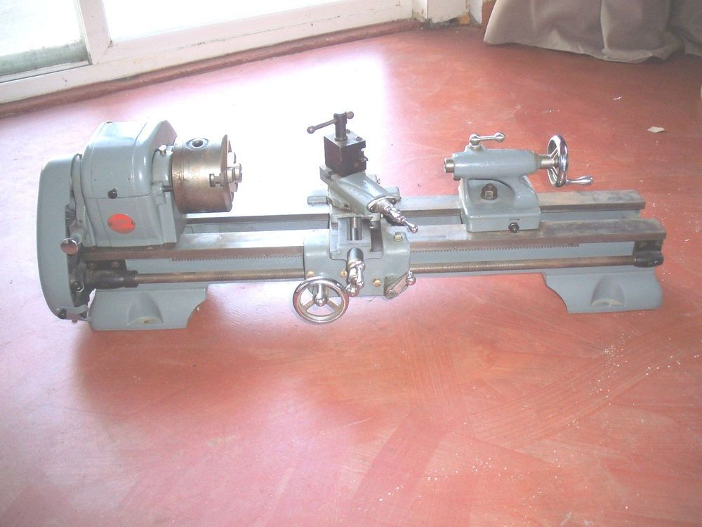 Atlas Metal Lathe Bench Top Mini Model 618 Excellent Many Accessories Lathe Metals And Minis