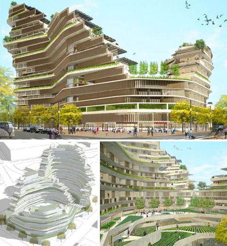 Futuristic Eco-Housing & Visionary Green Public Space