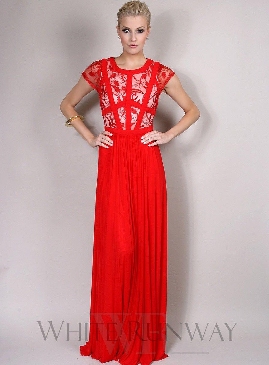 Lara Dresses - 29930 Cap Sleeve Floral Lace Sheer Long