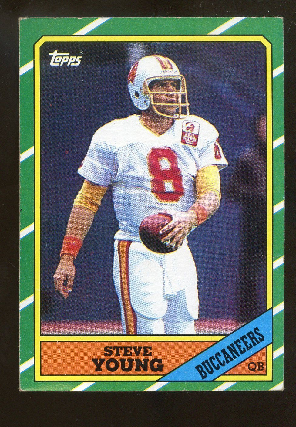1986 topps football 374 steve young buccaneers rc rookie