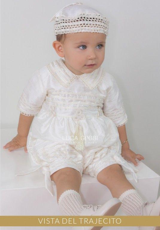 Elegante ropón de bautizo para niño, desmontable, confeccinado en ...