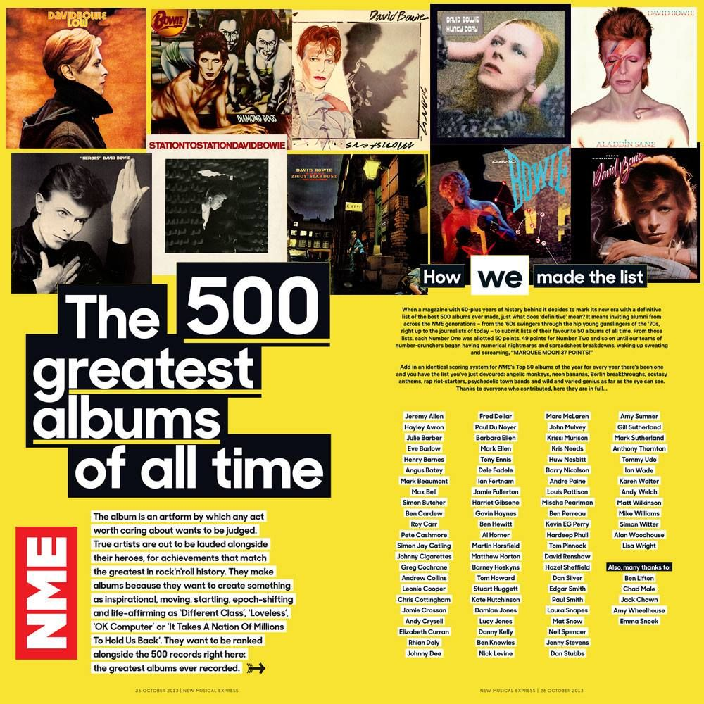 David Bowie Has 10 Albums In The Nme 500 Greatest Albums Of All