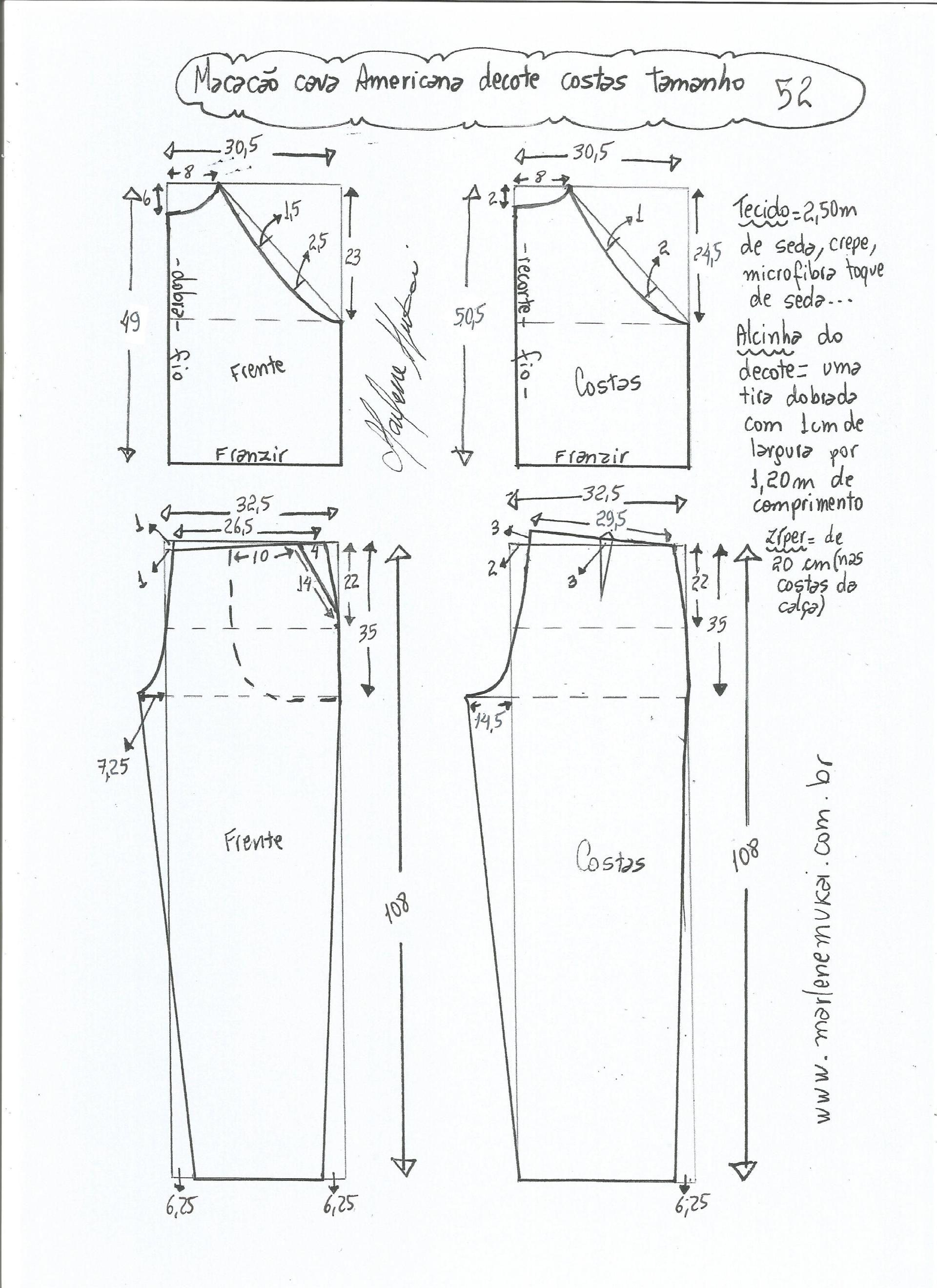 Patrón de mono con sisa americana | Moda y costura | Pinterest ...