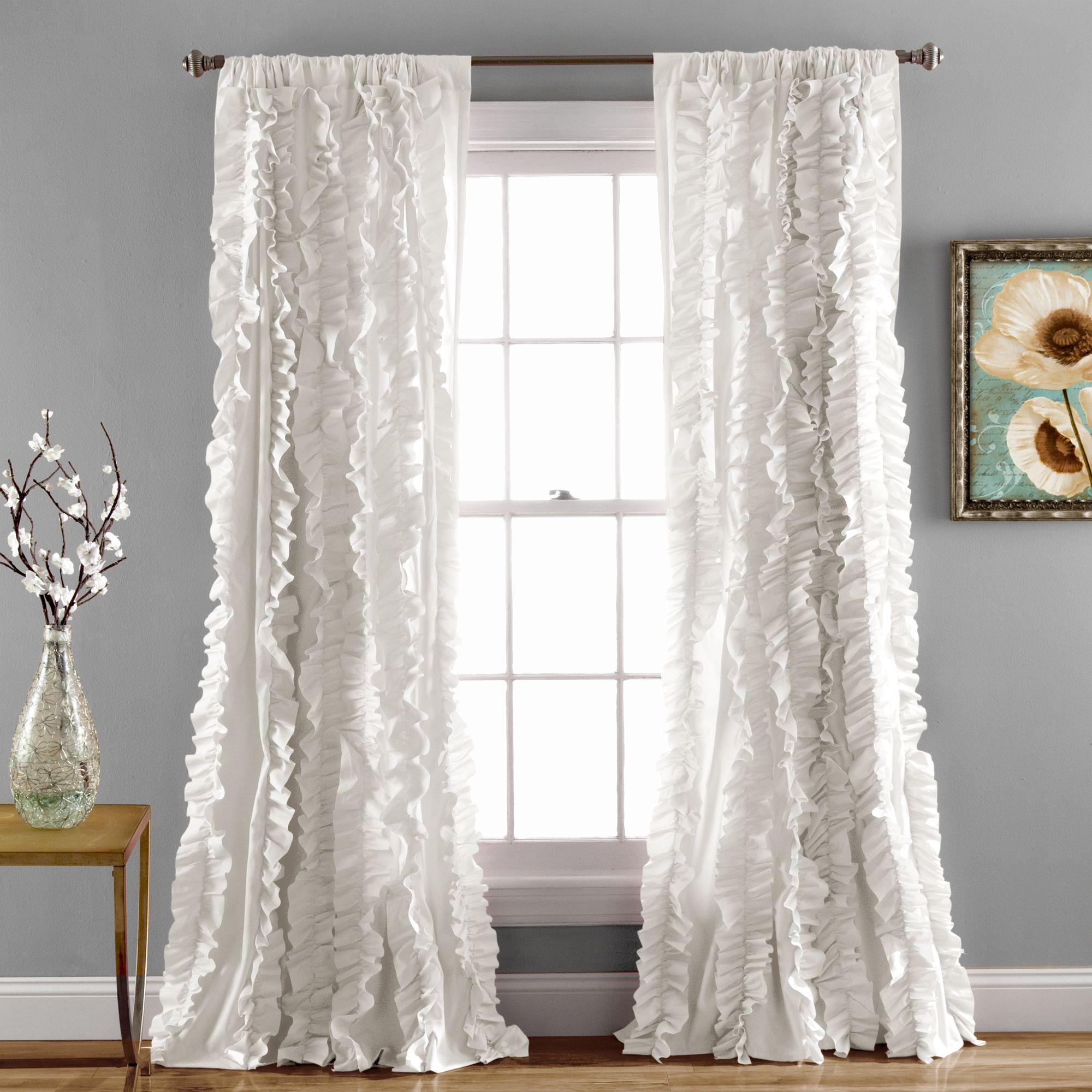 Lush Decor Belle Window Curtain White