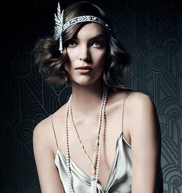 Great Gatsby Inspired 1920s Flapper Hair Jewelry