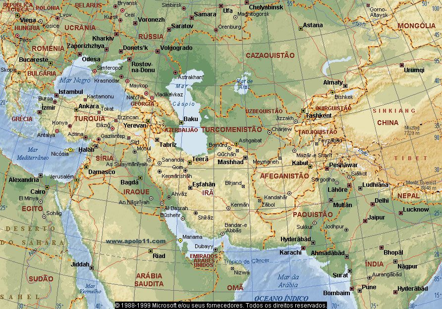 Middle East Trips Continents