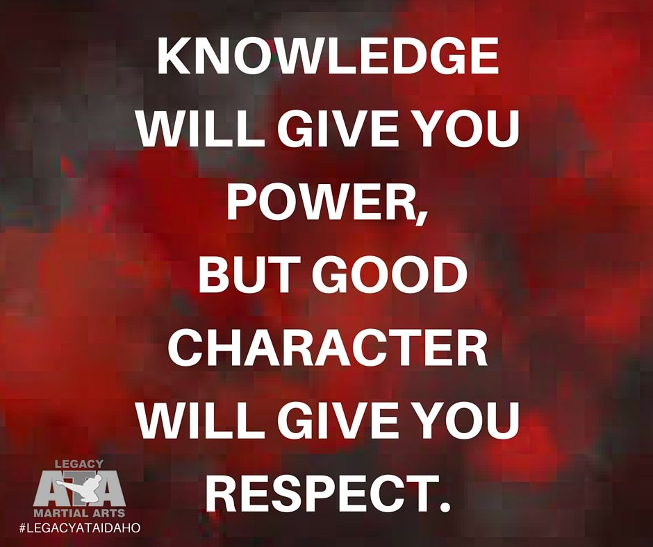 Pin by Legacy ATA Martial Arts on Life Skill Respect