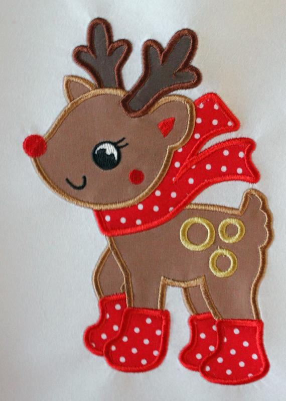 5pcs X'mas Christmas Reindeer Deer Iron on Embroidered Patches Applique  Craft   eBay