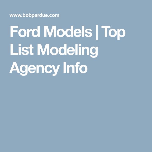 Ford Models | Modeling | Ford modeling agency, Ford models