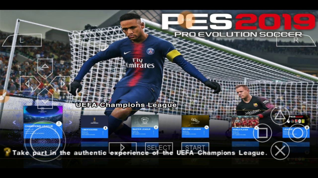 PES 2019 PPSSPP-PSP Iso English Best Graphics Update And