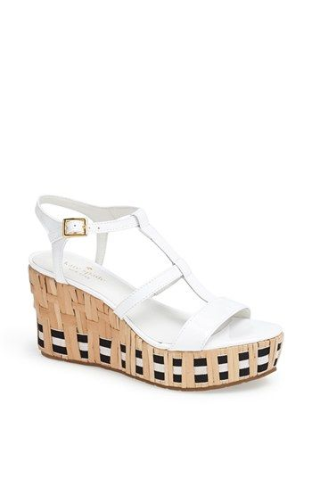 choice cheap online Kate Spade New York Leather Tobey Sandals discount visit UTNJDRtgF2