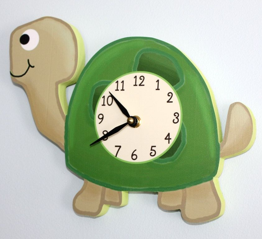 Spring SALE Turtle Wooden WALL CLOCK for Kids Bedroom Baby Nursery Wc0062. Spring SALE Turtle Wooden WALL CLOCK for Kids Bedroom Baby Nursery