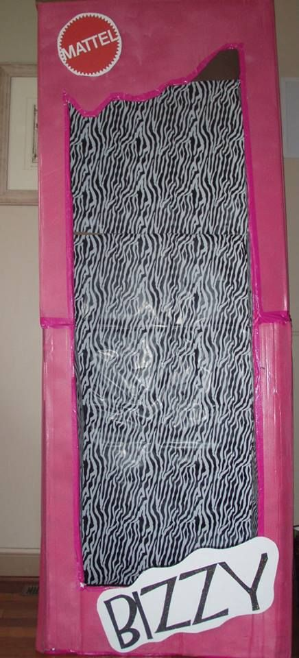 f9150effa5e life size barbie box for barbie bridal shower I used two boxes a washer  machine and a dryer box so it was to pieces and then we taped it together  with pink ...