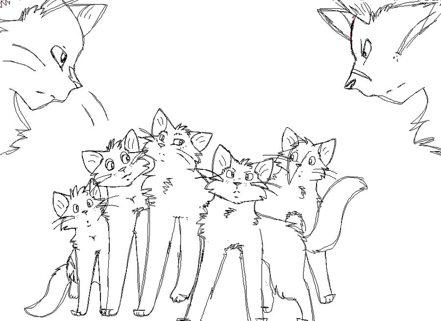 Pin by Breyanna Lenox on Warrior coloring pages | Pinterest | Cat ...
