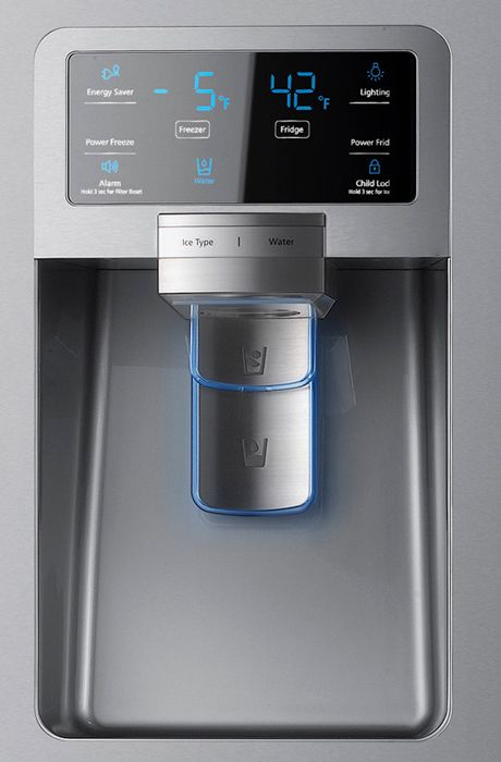 Samsung Refrigerator Rf4287 Control Panel Ice Water Jpg 460 700