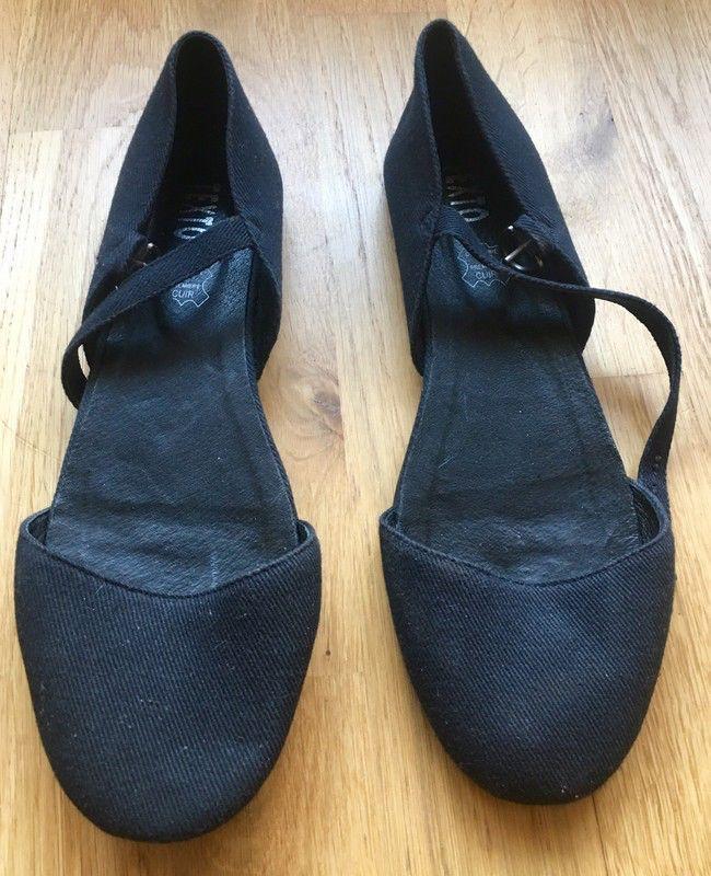 Femme chaussures sandales Slipper ballerines noir 40 cxnUaB