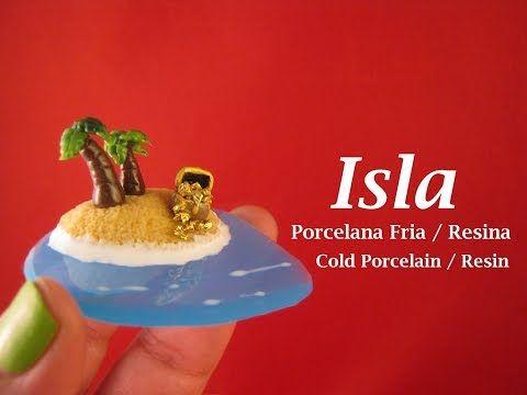 Isla en Porcelana Fria -Resina / Cold Porcelain - YouTube