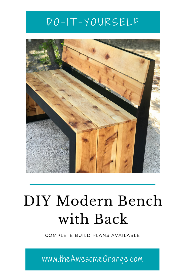 DIY Modern Bench with Back Bench with back, Modern bench