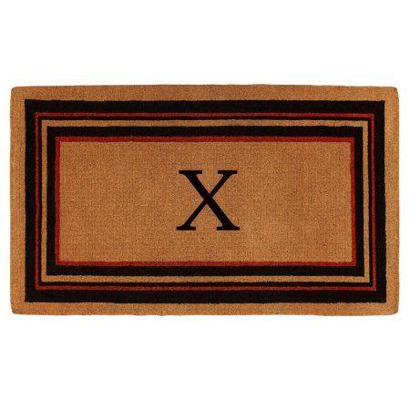 Esquire Monogram Doormat, Extra-thick (Letter X)
