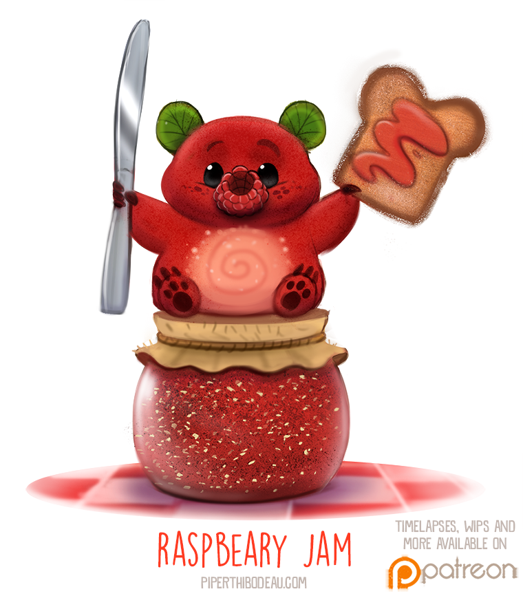 Daily+Paint+1516.+Raspbeary+Jam+by+Cryptid-Creations.deviantart.com+on+@DeviantArt