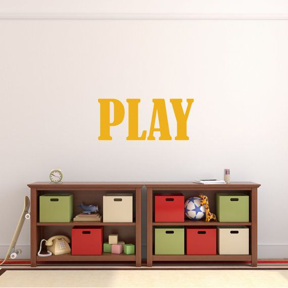 Playroom Decal | Play Room Decal | Playroom Sign | Play Decal | Play  Sticker | Playroom Vinyl | Playroom Wall Decor | Kids Room Decal