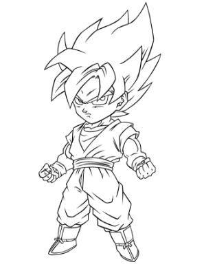 Coloring Page Dragon Ball Z Goku