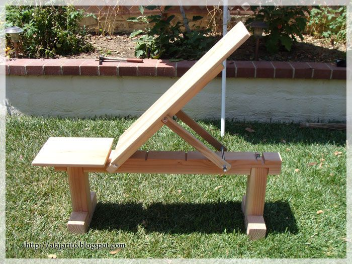 Weight Bench 5 Position Flat Incline Doubles As Patio
