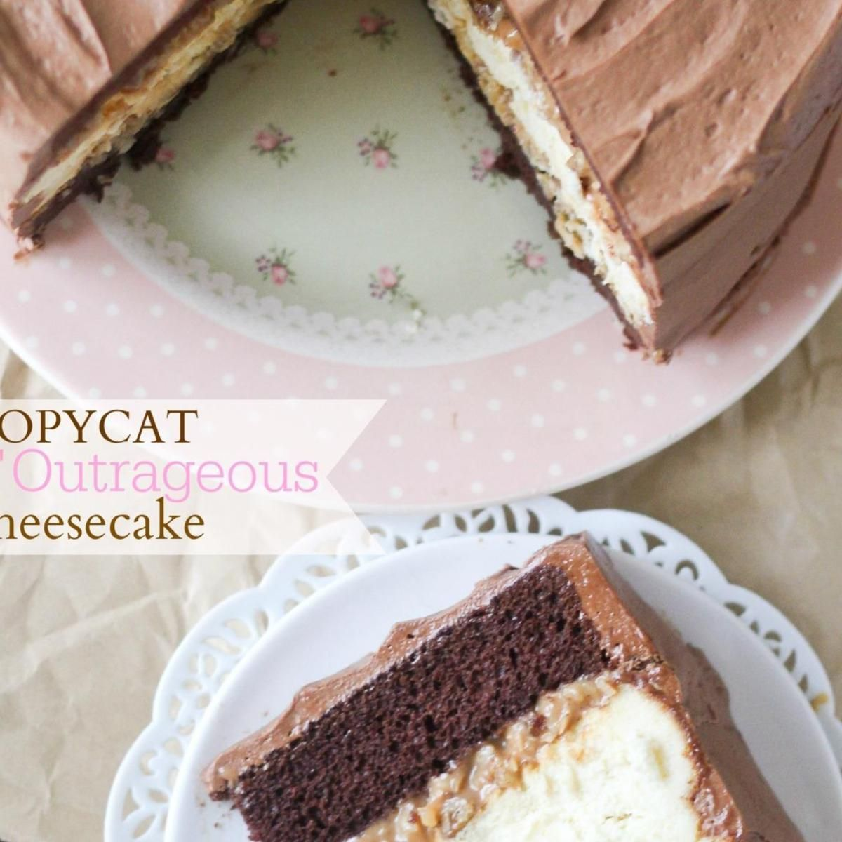 Copycat Chris' Outrageous Cheesecake (German Chocolate Cheesecake) #germanchocolatecheesecake