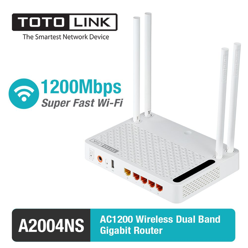 Totolink a2004ns 11 ac 1200 150mbps wireless dual band gigabit ...