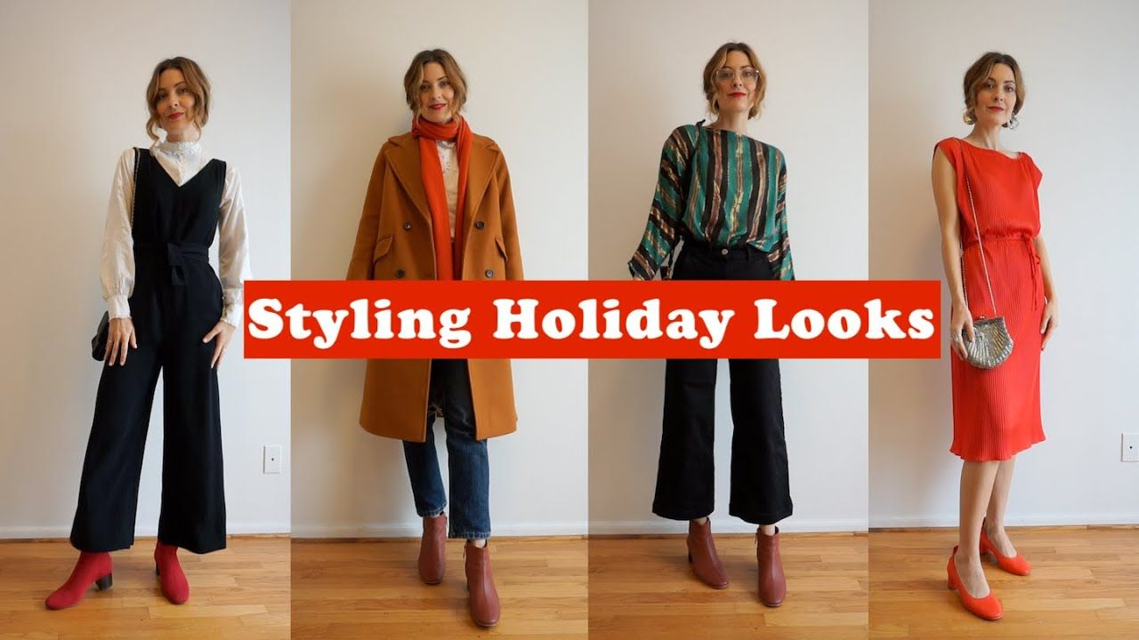 Holiday Outfit Ideas With Vintage And Modern Clothing Feat Everlane T Holiday Outfits Modern Outfits Clothes
