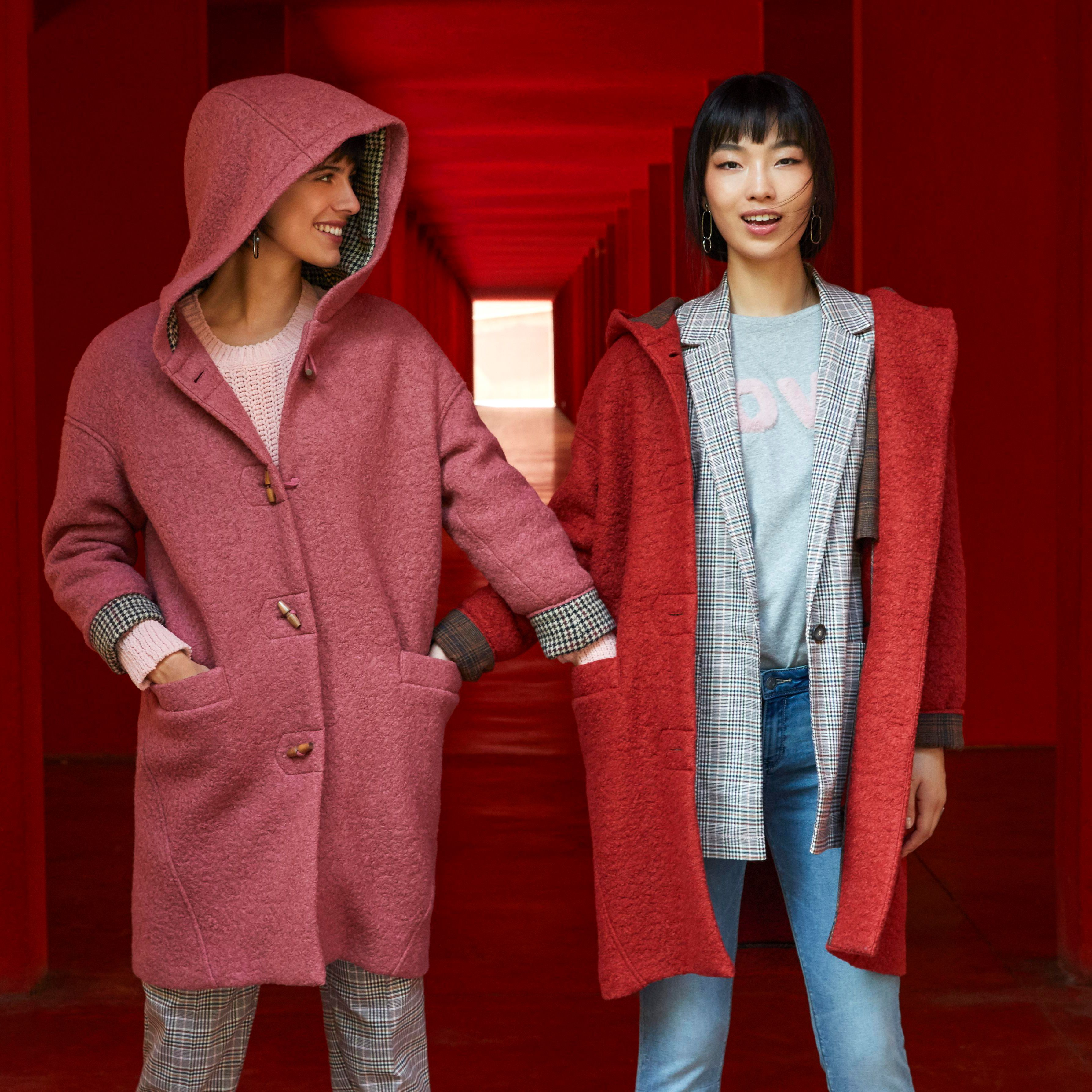 Esprit Outerwear Red Pink Coats Coats For Women Coat Casual Chic [ 3574 x 3574 Pixel ]