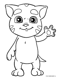نتيجة بحث الصور عن Talking Tom And Angela Coloring Pages