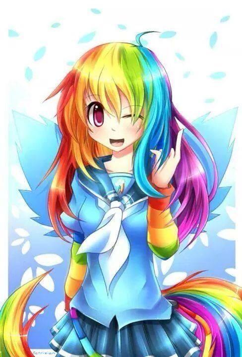 Anime Rainbow Dash My Little Pony Friendship Little Pony Pony