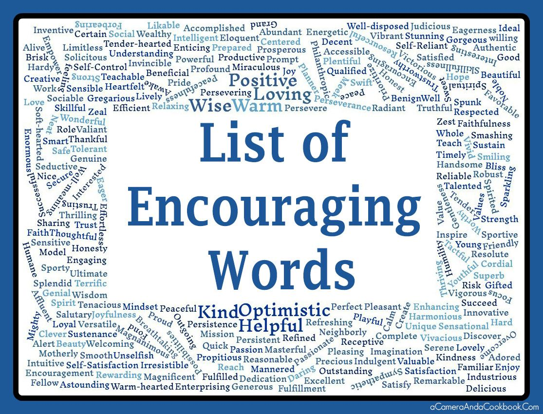 This Post Includes A Printable With A List Of Encouraging Words In Alphabetical Order