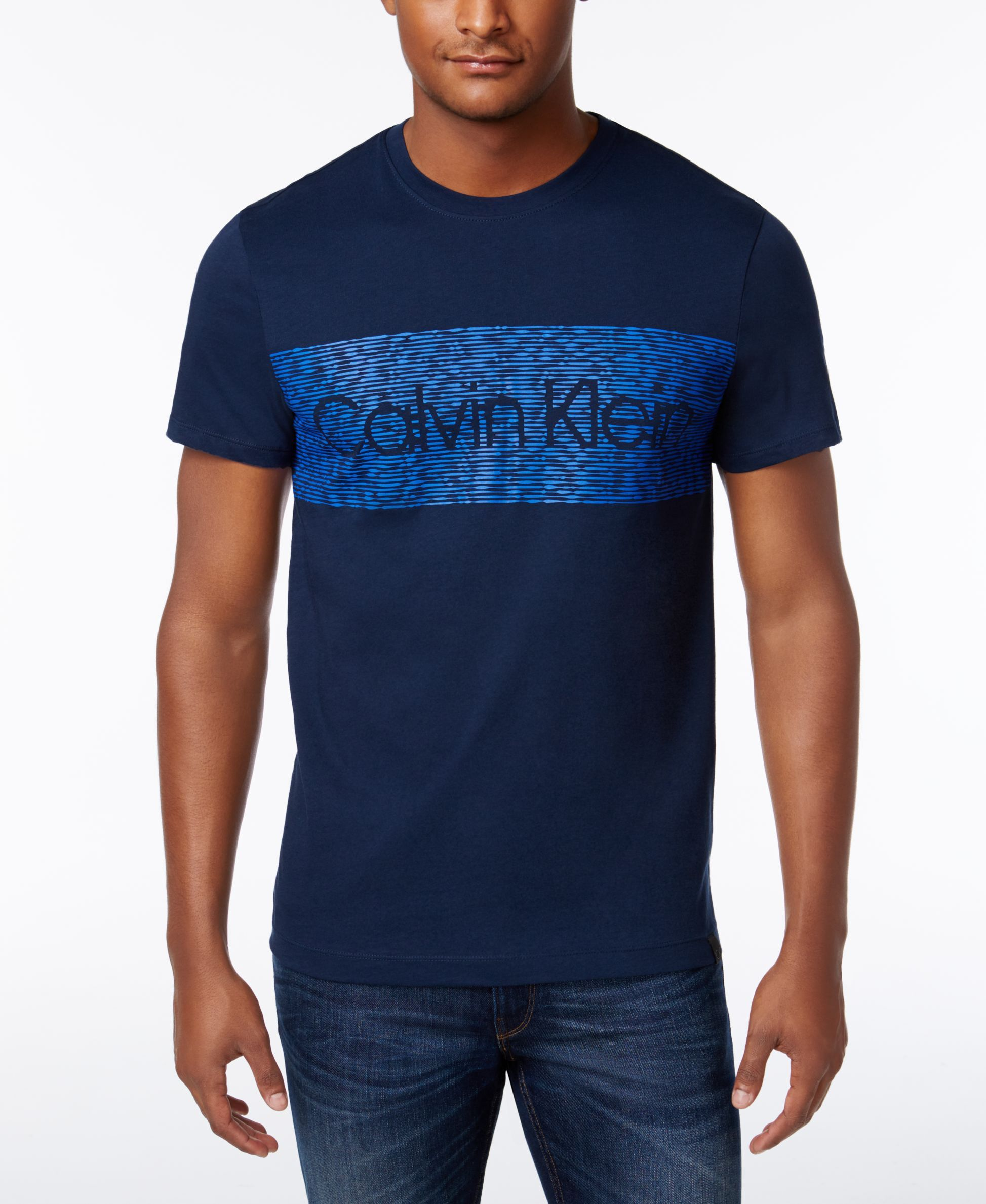 Calvin Klein Men's Classic-Fit Banner-Logo Print T-Shirt