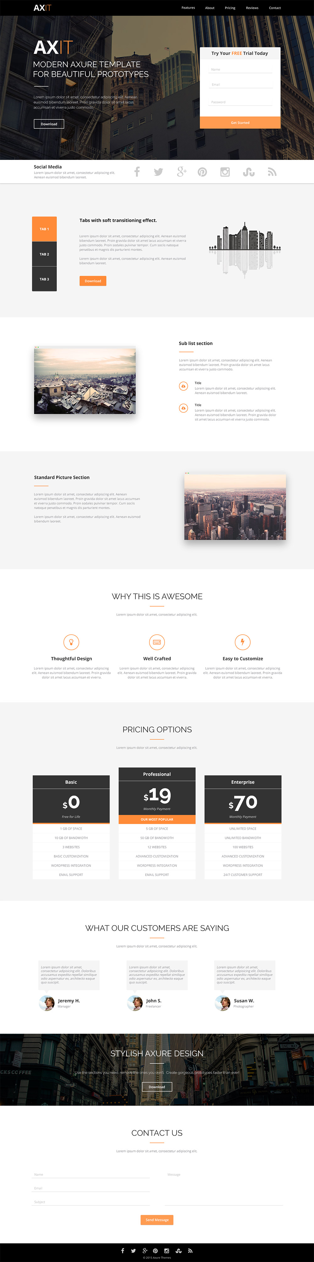 p>Download Clean Modern Landing page Template Design Free PSD. A ...