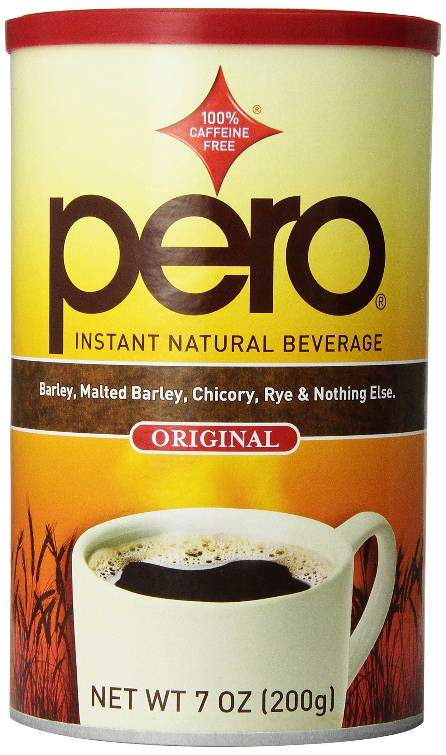 Pero instant beverage 7 ounce coffee alternative