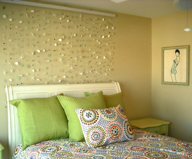 Seaside Wall Art made with shells, sea stars, nautical beads, and ...