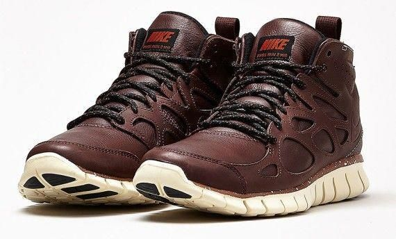 size 40 9a0a3 f78fb Nike Free Run 2 Sneakerboots Premium Barkroot Brown Leather