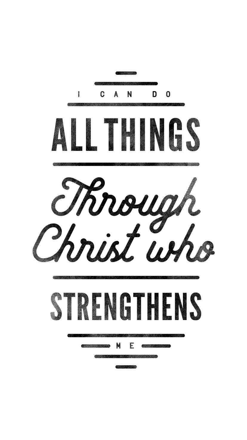 I Can Do All Things Through Christ IPhone Wallpaper Part Of The VICTORY Collection