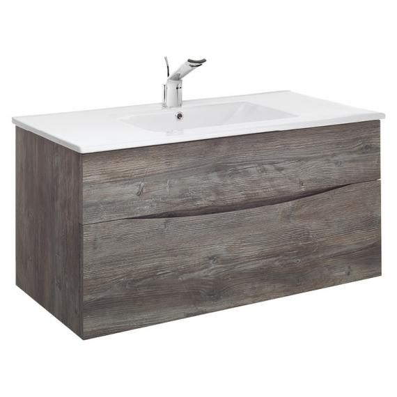 Crosswater Bauhaus Glide II 100 Driftwood Vanity Unit