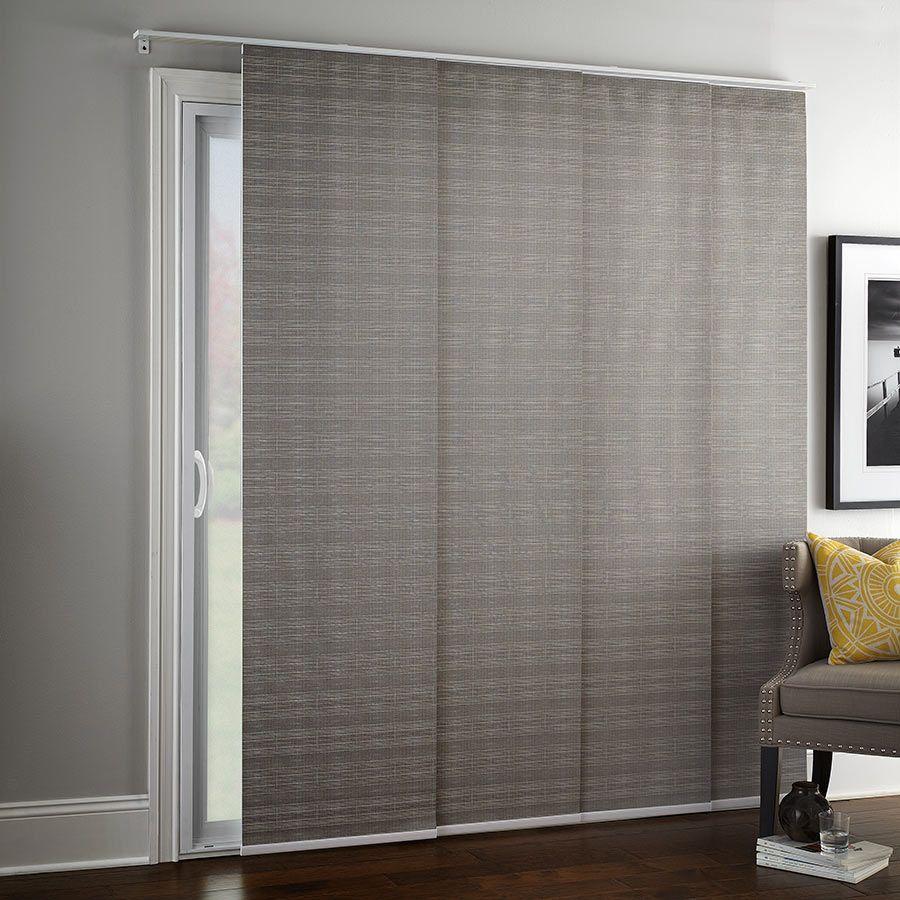 Designer Elements Blackout Sliding Panel Track Blinds Selectblinds Com Sliding Glass Door Window Treatments Patio Door Coverings Sliding Door Window Treatments