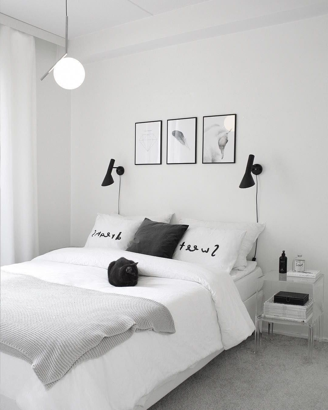 How To Transform Your Bedroom Into Black And White Color Scheme In 2020 White Bedroom Design Bedroom Color Schemes Neutral Bedroom Design