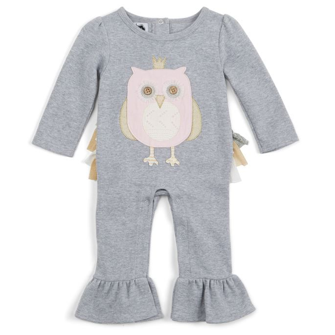 c7314f735c9 Owl Ruffle One-Piece