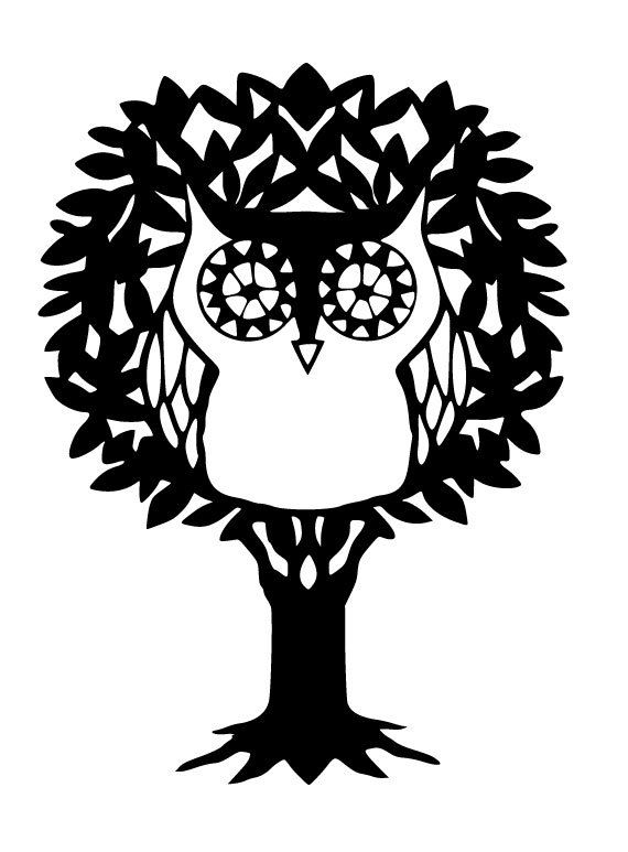 Owl Sitting in Tree Vinyl Yeti, Tervis, Wall, or Car decal!
