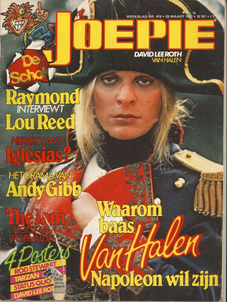 Joepie Magazine Diver Down Times David Lee Roth Van Halen Rod Stewart