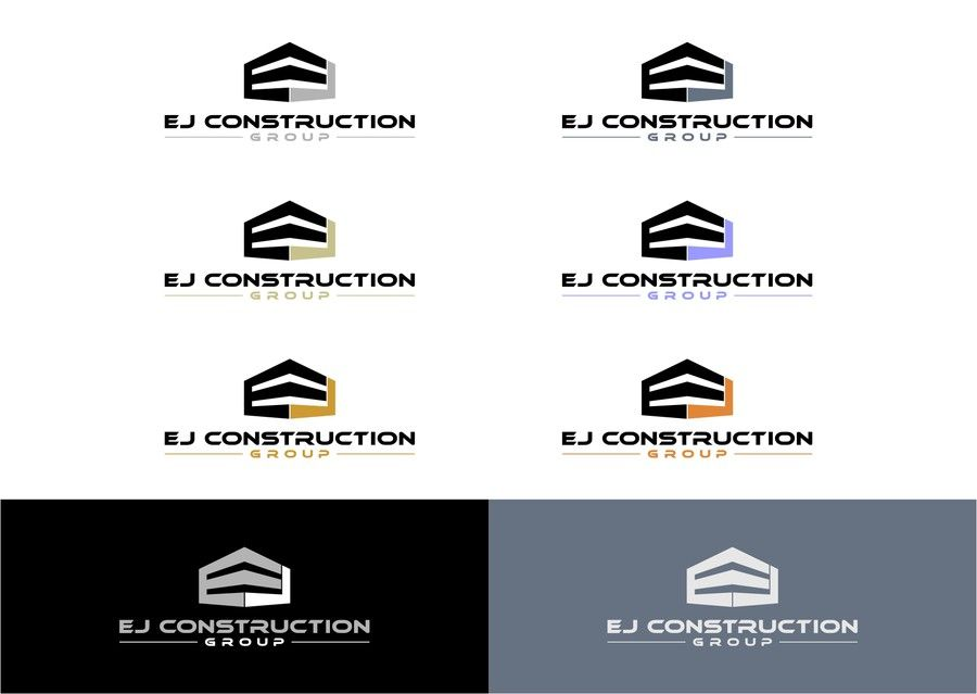 Create an eye catching logo for EJ Construction Group by basmala - fresh blueprint entertainment logo