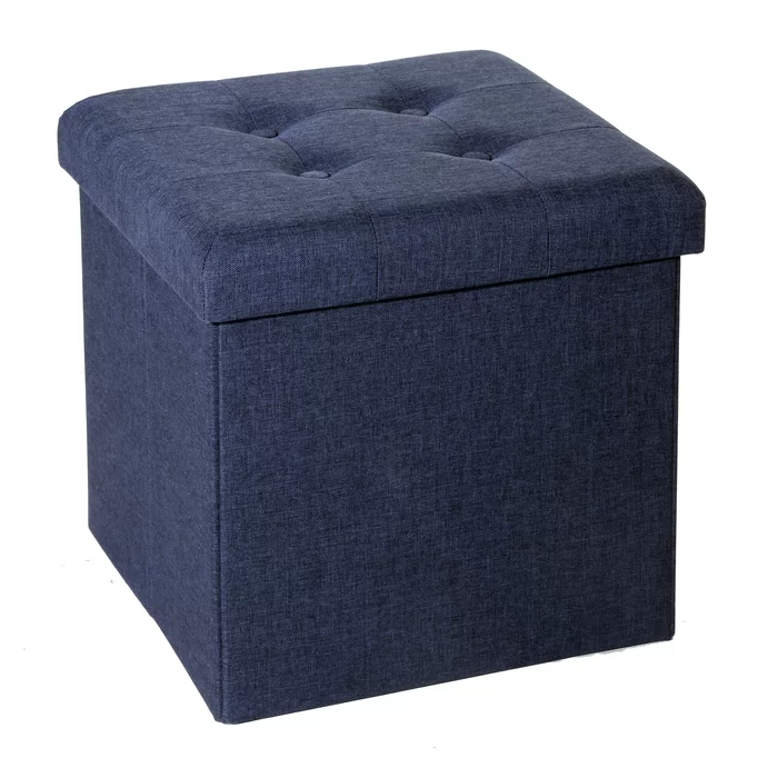 Pin By Olivia M On Apartment Storage Ottoman Storage Cube Ottoman Blue Storage Ottoman